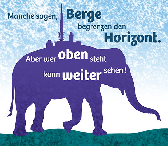 Bildmontage Elefant Brocken
